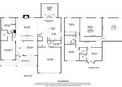 New Homes St Louis Sawgrass Floor Plan BW
